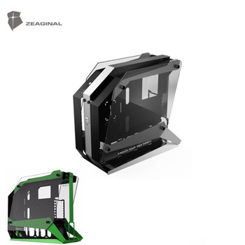 ZEAGINAL Middle Tower Chassis Desktop Computer Case For Water Cooling ATX Gamer MOD Case DIY Glass ZC-16