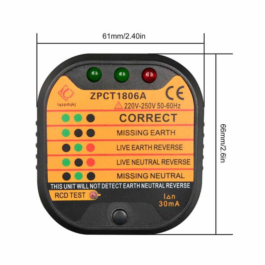 ZPCT1806A Ổ Cắm Ổ Cắm Bút Thử Dò Mạch Phân Cực Điện Áp Phích Cắm Phá Vương Quốc Anh Mặt Đất Bằng Không Dòng Công Tắc An Toàn Electroscope