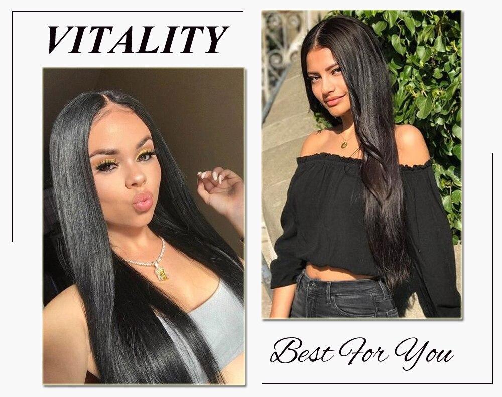 Ali Julia Hair Brazilian Straight Human Hair Bundles Remy 8 Inches to 30 Inches 1PC 3PCS 4PCS 100% Human Hair Weave Extensions (3)