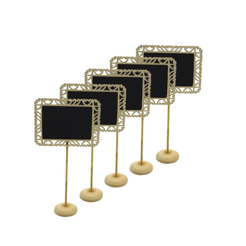 5pcs/lot Sweet Mini Hollowed Beard Square Board Message Board For Wedding Party Decor