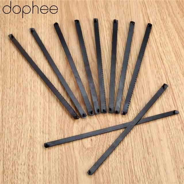 Dophee lame de scie manuelle, pour Mini Serra, 150mm, 6 pouces, en acier inoxydable, 10 pièces