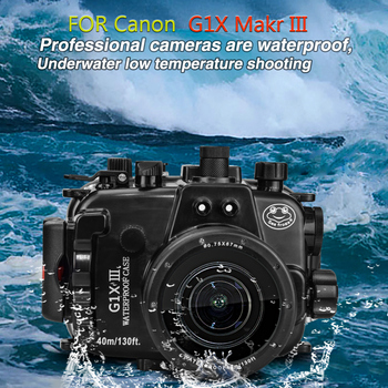 Mcoplus WP-G1XIII 40m 130ft Camera Waterproof Bag Underwater Diving Housing Case  for Canon G1X Makr iii G1X III