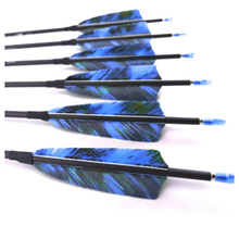 12Pcs Spine 400 500 600 700 800 900 1000 Pure Carbon Arrows ID4.2mm Turkey Feather Recurve Compound Bow Hunting Shooting Archery