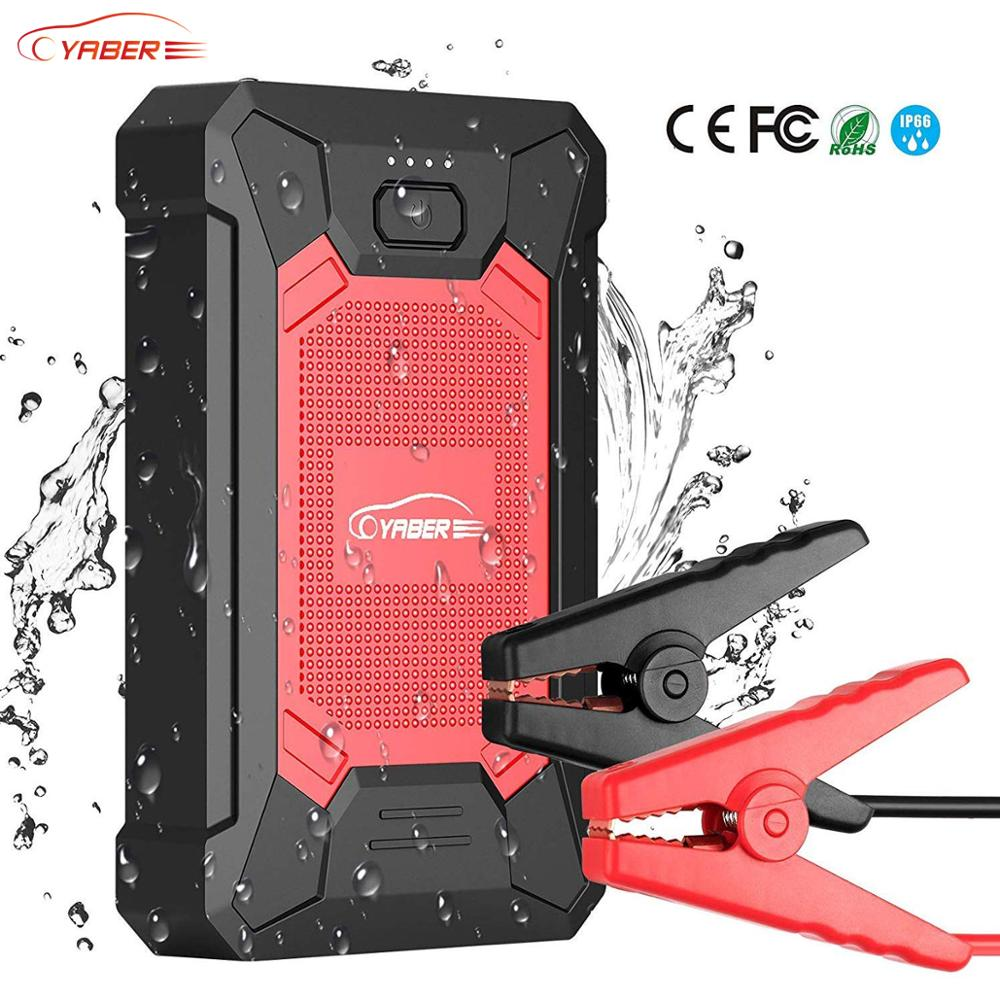 Yaber Car Jump Starter 12000mAh 600A Power Bank Portable Emergency Starter Car Auto Booster Starting Device IP66 Waterproof