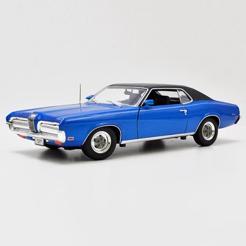 1/18 scale metal diecast 1970 Mercury cougar XR7 vehicle toys model simulation alloy car model adult child gift collection shows