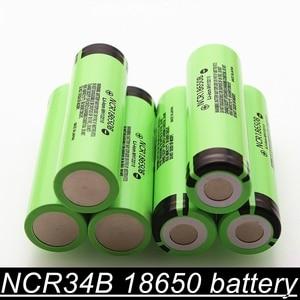 100% original novo ncr18650b 3.7 v 3400mah 18650 bateria recarregável de lítio para baterias de lanterna elétrica
