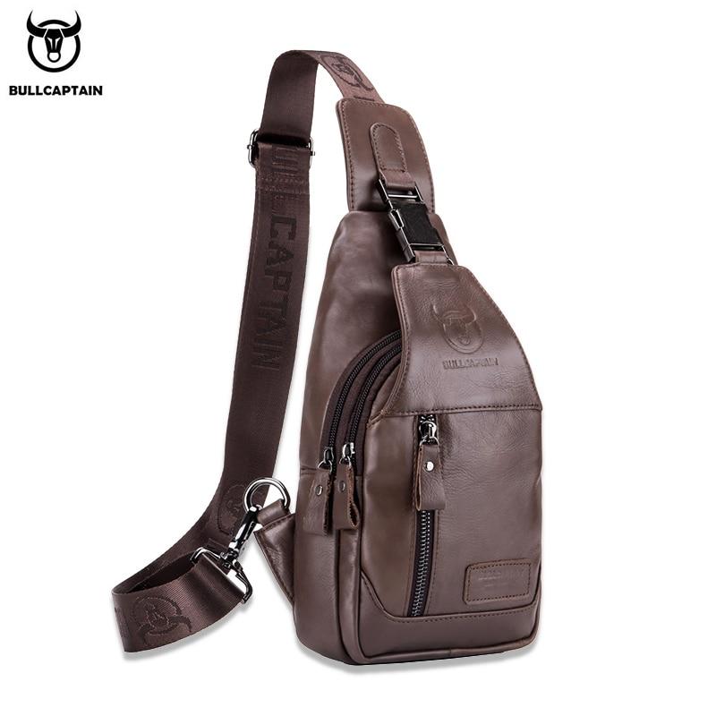 BULLCAPTAIN Multifunctional Men's Crossbody Bag, Short Travel Crossbody Bags, Business Chest Bages, Casual Shoulder Bag's