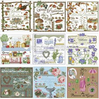25 photos Lafite Series 2 patterns Counted Cross Stitch 11CT 14CT DIY Chinese Kits Embroidery Needlework Sets