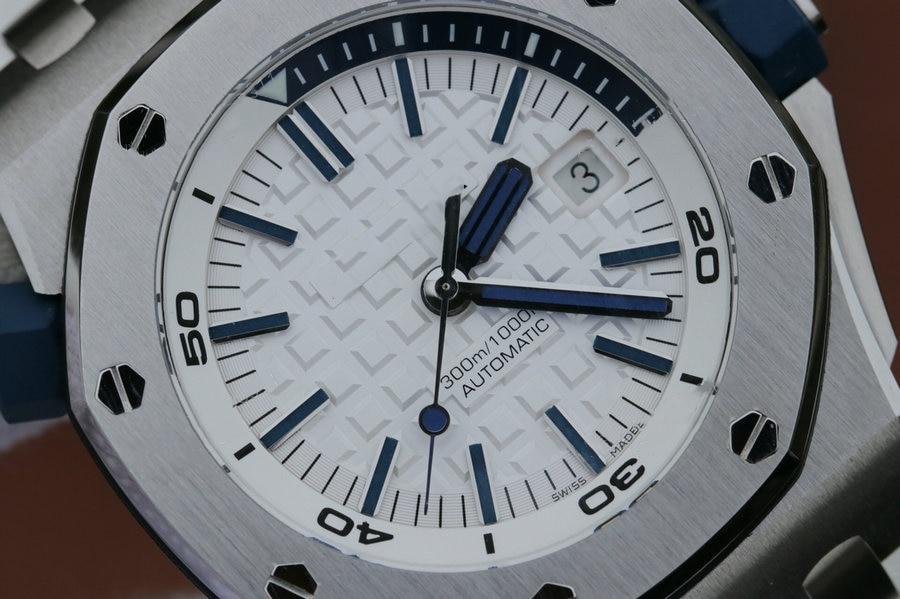 automático mecânico marca de luxo relógio branco dial de alta qualidade