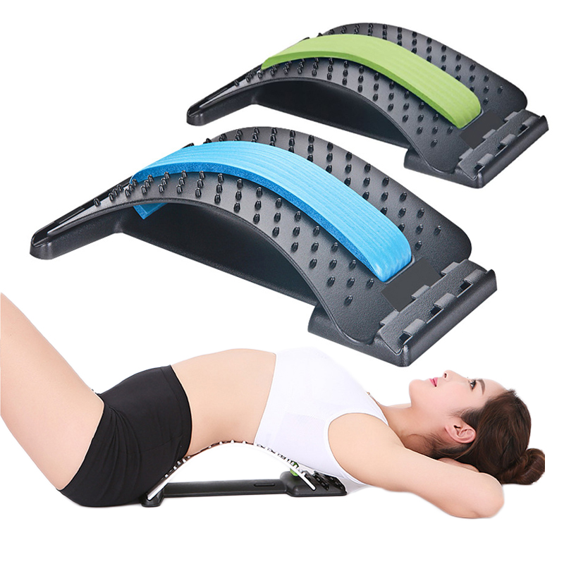 Back Lumbar Stretch Massager Spine Corrector Stretcher Fitness Relaxation Spine Pain Relief Health Care Corrector Support
