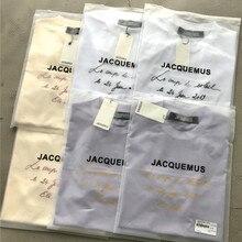 Purple White Jacquemus T shirts Men Women Summer Best Qualit