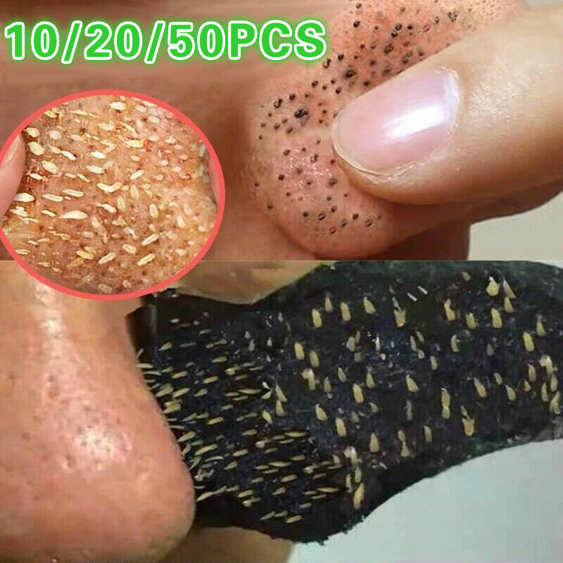 Bamboo Charcoal Blackhead Remover Mask Black Dots Spots Acne Treatment Mask Nose Sticker Cleaner Nose Pore Deep Clean Strip