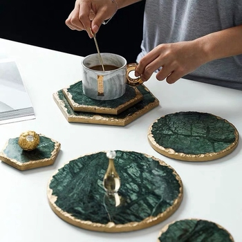 Luxury Trivet Made With Real Marble Material Suitable For Bowls mat And Dish Mats