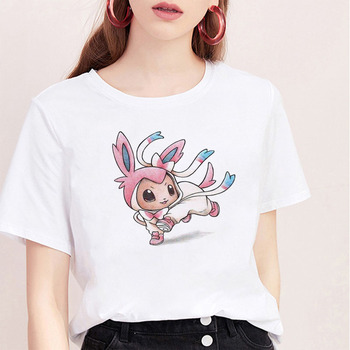 Summer Aesthetics Tshirt Harajuku Kawaii Cartoon Image Cute Animal T Shirt Women Short Sleeve Tops & Tees Fashion Casual T-shirt