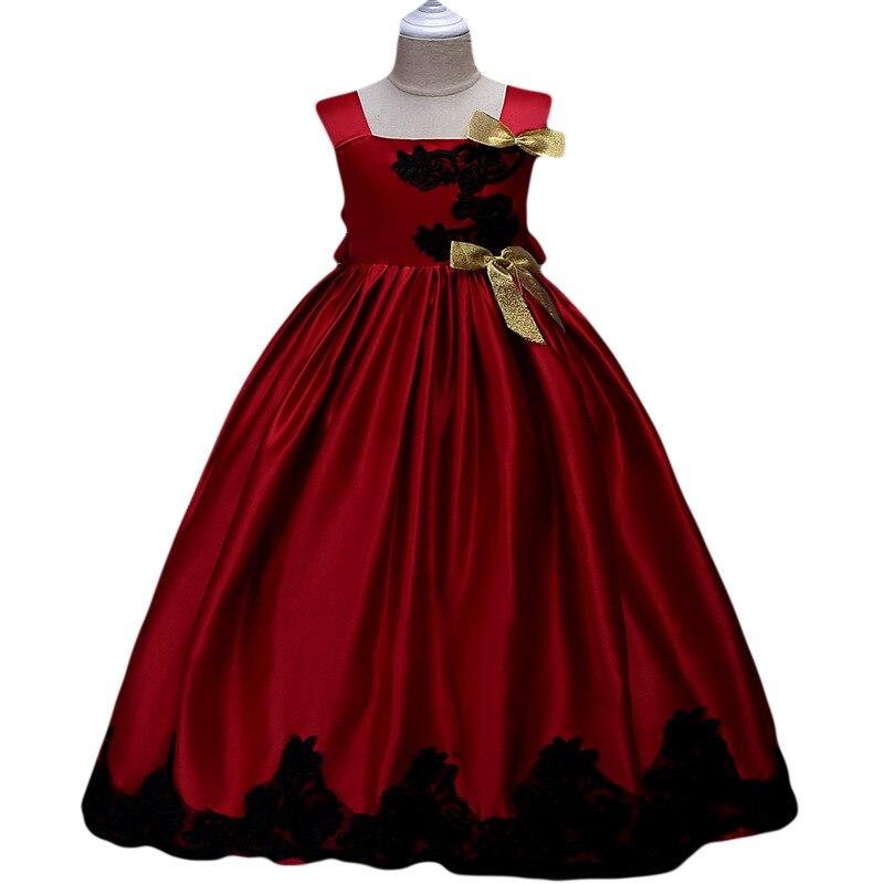 Europe And America High-End CHILDREN'S Dress Princess Dress Girls Performance Host Service Lace Sleeveless Dress