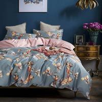 Svetanya Cotton Bedding Set Pastoral Style Bedlinen king queen double size