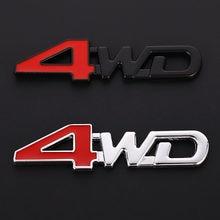 Adesivo de metal 3d emblema 4wd, decalque de emblema 3d 4x4 para honda mitsubishi asx outlander lada crv accord civic suzuki grand vitara swift