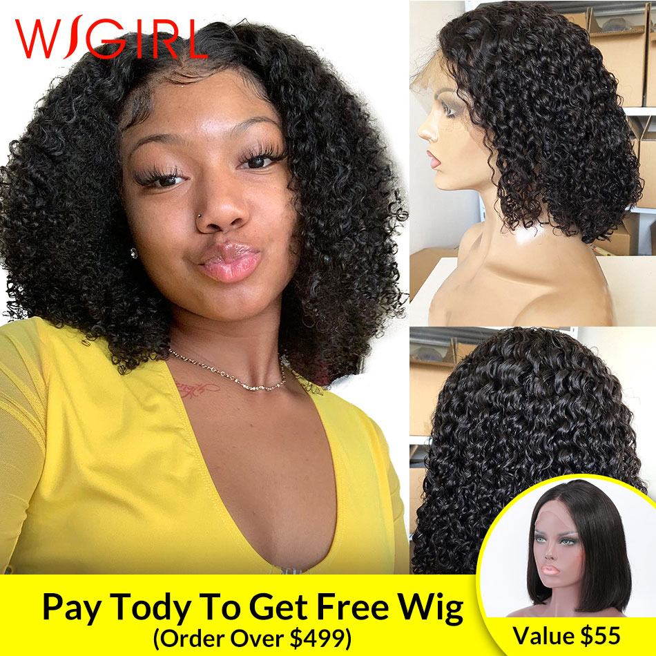 Malaysian Deep Wave Long Lace Front Human Hair Wigs Bob Afro Kinky Curly Frontal Wig Blonde Water Wave For Black Women Blonde