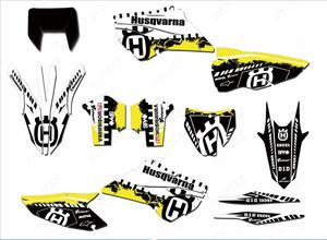Full set Stickers Customized Number Graphics Backgrounds Decals For Husqvarna TE FE TC FC 125 250 300 350 450 501 2014 2015 2016