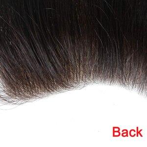 Для мужчин накладки из искусственных волос 4,5x15,5 см 100% Индию, оздоровительное масло для волос кусок для Для мужчин s V петли парик 6