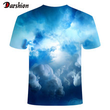 New Style 3D Fog Printed Tshirt Colorful Flame Printing Tshirts Men Women Casual Top Short Sleeve Tshirt Summer Fashion Tshirt(China)