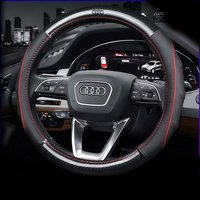 Carbon Fiber Leather Car Steering Wheel Cover for Audi A3 A4 A5 A6 Q2 Q3 Q5 Q7 A1 A7 S3 S4 SQ5 RS3 Allroad