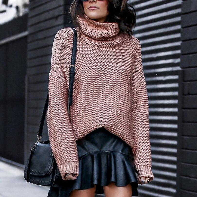 Le donne Dolcevita Maglie E Maglioni Autunno Inverno 2019 Tirare Ponticelli Europeo Casual Twist Caldo Maglie E Maglioni Femminile di grandi dimensioni maglione Pull