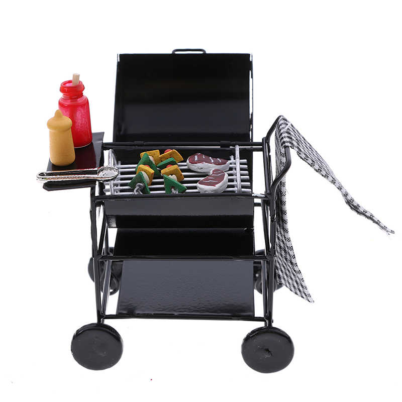 1:12Scale Dollhouse Miniature Furniture Dining Room BBQ Grill Pretend Play