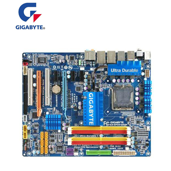 For GIGABYTE GA-EP45-UD3P P45 Motherboard LGA 775 DDR2 16GB For Intel EP45-UD3P Desktop Mainboard SATA II PCI-E X16 Used