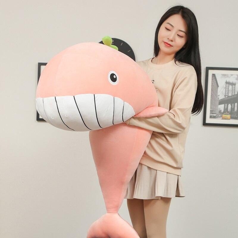 65-120cm Super Soft Plush Toy Sea Animal Big Blue Whale Soft Toy Stuffed Animal Children's birthday gift