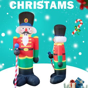 Christmas Inflatable Doll Nutcracker Soldier Snowman Christmas Tree Figures Outdoor Yard Garden Ornaments Christmas Decoration