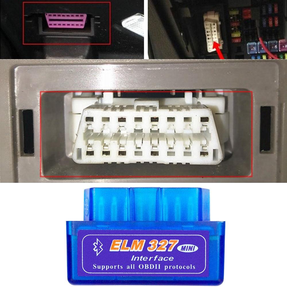 Blue V2.1 ELM327 Interface OBD2 Car Scanner Diagnostic Tool For Audi A6 C6 A3 A4 B6 80 Elm 327 Bluetooth OBD2 Scanner Adapter(China)