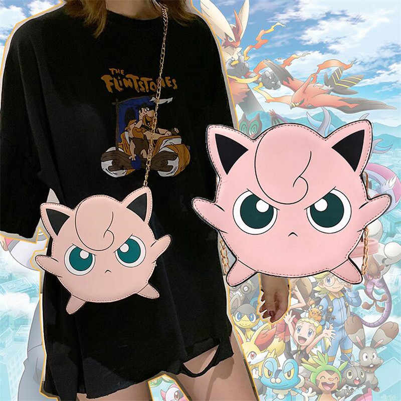 Hot New Japan Anime Pokemon Pikachu Shoulder Bag Cosplay Cartoon 3D Mini Wigglytuff  Cute Chain Haversack Messenger Bag