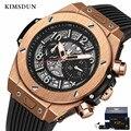 KIMSDUN Модные Военные мужские бизнес трендовые часы автоматические механические часы с индивидуальным силиконовым ремешком Relogio Masculino