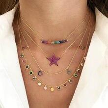 Collar de plata de ley 2021 con joyería CZ de arcoíris, Gargantilla de lujo con puntos, estilo clásico, delicado y delicado, regalo de San Valentín, 925