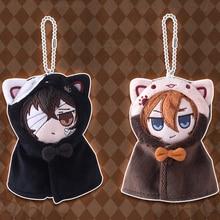 Keychain Plush-Mascot Dazai Toy Stuffed-Doll Cosplay Anime Stray Gift Cat Bungo Kawaii