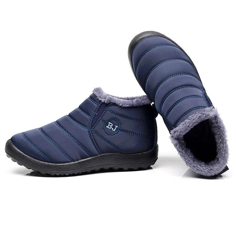 Botas femininas 2019 moda inverno quente botas de neve botas de tornozelo feminino sapatos de inverno botas mujer sapatos de pelúcia mulher mais tamanho