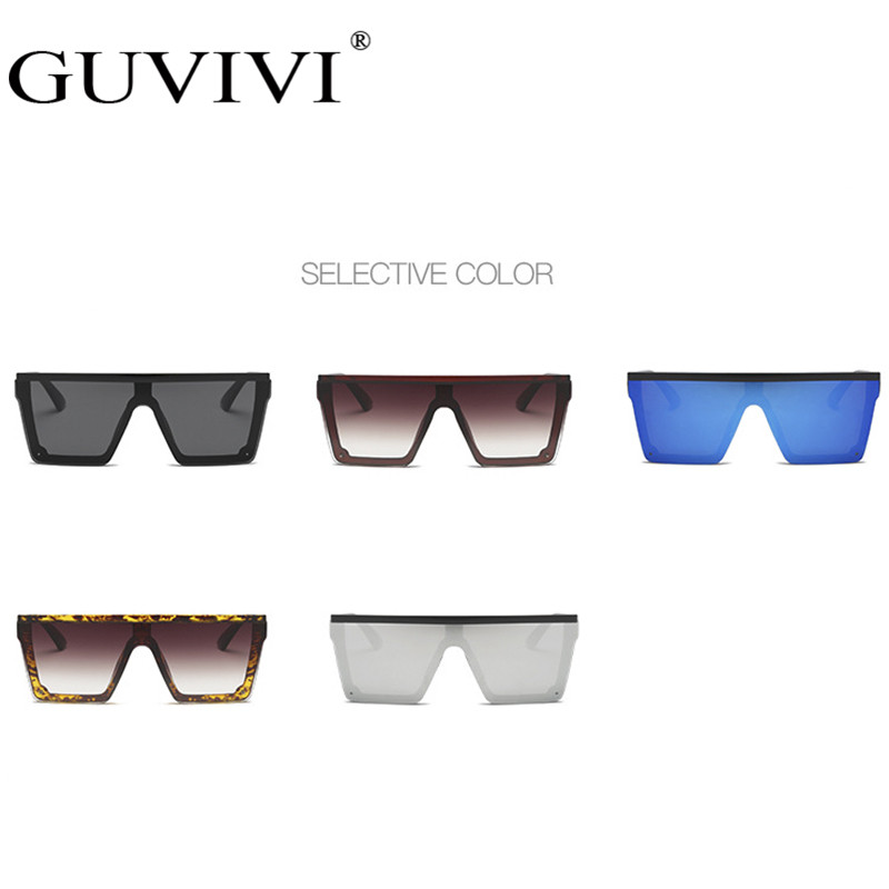 Guvivi Oversized Women Sunglasses One Piece Sun Glasses Big Frame Windproof Shades Men Flat Top Driving Goggles Eyeglasses UV400 in Women 39 s Sunglasses from Apparel Accessories
