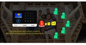 Image 5 - 2.4 Inch Tft Scherm Wifi Gsm Wireless Home Security Alarmsysteem Bewegingsmelder App Controle Solar Siren Rookmelder Kit
