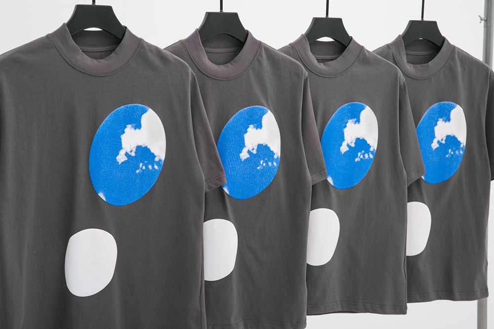 2020 Brand New KANYE WEST 3D Foam Printed T Shirt Men JESUS IS KING Blue Sky T-shirt Oversized Turtleneck Tees Women Men