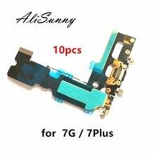 AliSunny Cable flexible de puerto de carga para iPhone 7, 4,7 pulgadas, 7G, 7Plus, cargador de conector Dock USB, piezas de repuesto, 10 Uds.