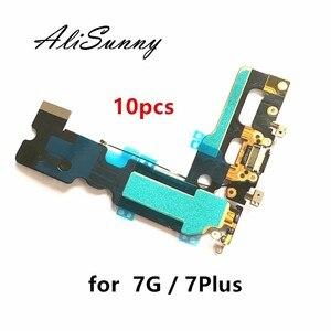 Image 1 - Alisunny 10 Chiếc Cổng Sạc Cáp Mềm Cho iPhone 7 4.7 7G 7Plus Plus USB Dock Kết Nối sạc Thay Thế Linh Kiện