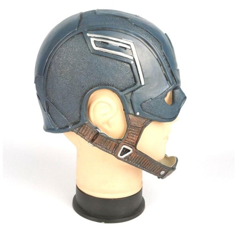Captain America Steven Helmet Halloween Soft Cosplay Latex\PU Mask Costume The Avengers US Captain Mask