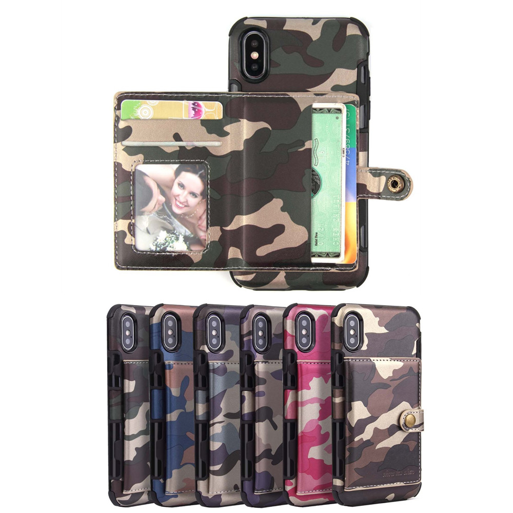 Luxury Camouflage Leather Cases for Huawei P30 Pro P30 lite Wallet Card Flip Back Cover for Huawei P9 lite Mini Wallet Fundas in Flip Cases from Cellphones Telecommunications