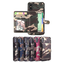 Luxury Camouflage Leather Cases for Huawei P30 Pro lite Wallet Card Flip Back Cover P9 Mini Fundas