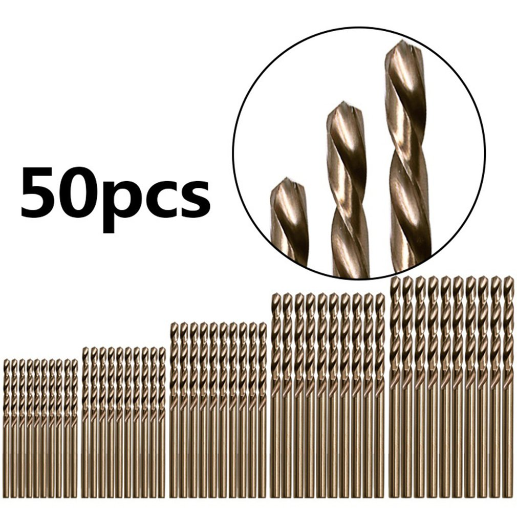 HSS Cobalt Twist Drill Bit Set HSS M35 Co Drill Bit 1mm 1.5mm 2mm 2.5mm 3mm Used For Steel Stainless Steel