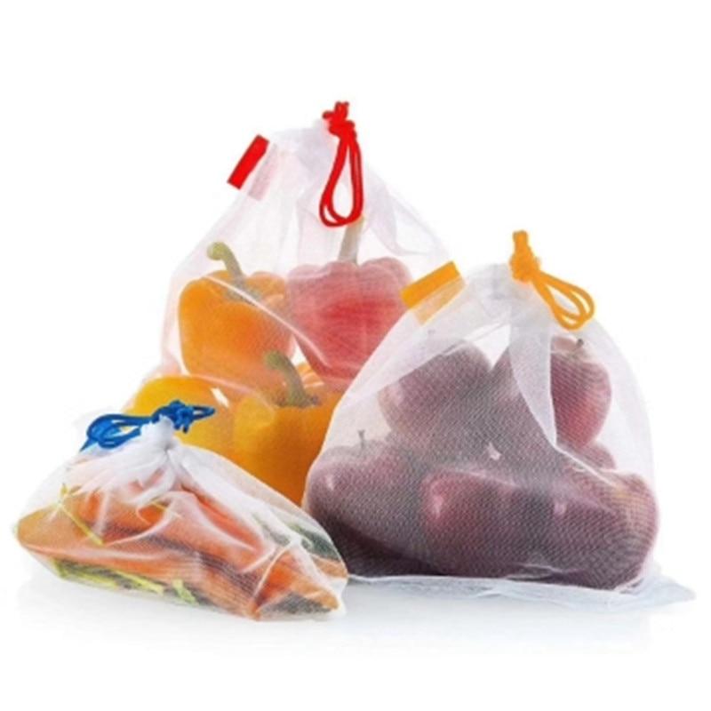 15pcs Reusable Bag For Storage Plastic Bag Shopping Bag   Packaging Bag Mesh Vegetable Bags ToysFruit Storage Bag Packaging Bag