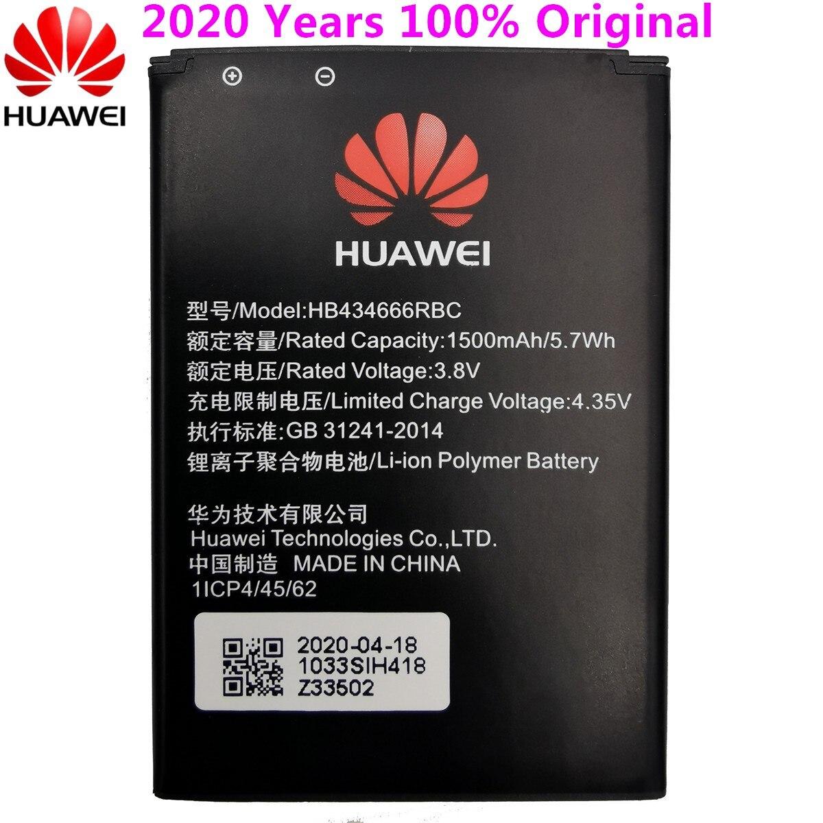 100% Original Battery HB434666RBC For Huawei Router E5573 E5573S E5573s-32 E5573s-320 E5573s-606 -806 High Capacity 1500mAh