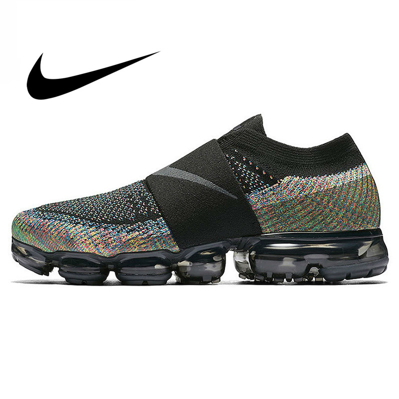 Original Nike Air VaporMax Moc Rainbow Cushion Men's Running Shoes Sports Sneakers Outdoor Anti-skid Mesh Breathable AH3397-003