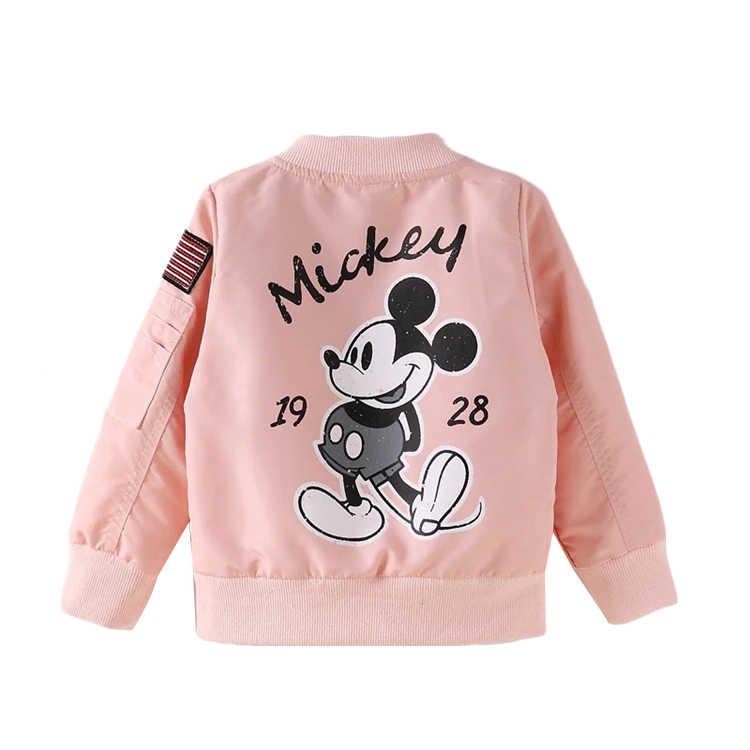 2019 куртка Микки для маленьких мальчиков, одежда пальто для мальчиков и девочек ветровка с рисунком, детская куртка Весенняя детская верхняя одежда, пальто